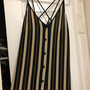La Hearts Dresses - Striped midi dress from Urban Outfitters